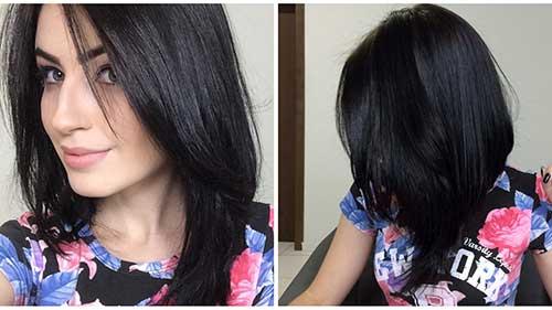 cabelo long bob preto natural