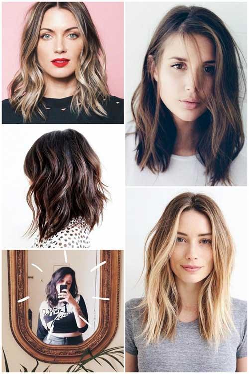 cabelos do tumblr com corte long bob em tons diversos