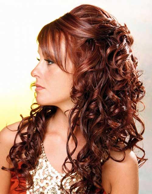 penteado meio solto pra cabelo cacheado longo
