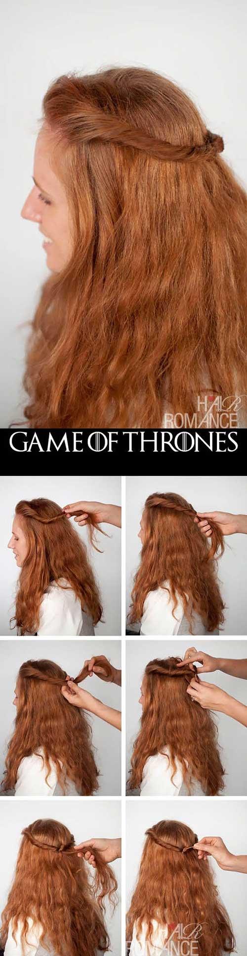imagem de tutorial do cabelo da margaery