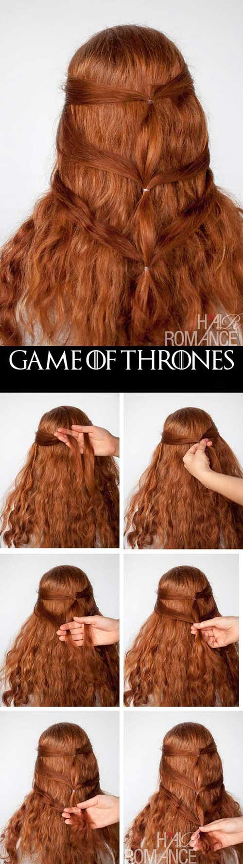 foto de como fazer cabelo da sansa