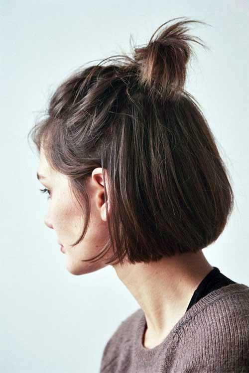 meio coque para cabelo bem curto