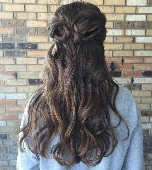 cabelos meio solto semipreso bonitos
