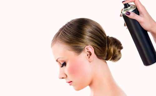 sprays de cabelos e variações