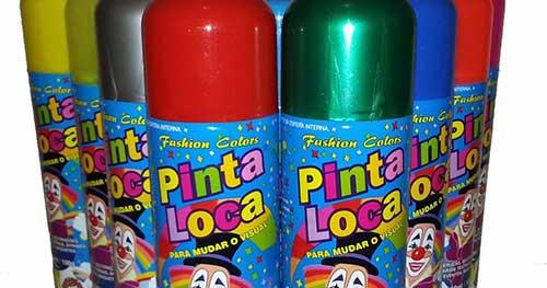 spray vermelho e verde que sai na lavagem