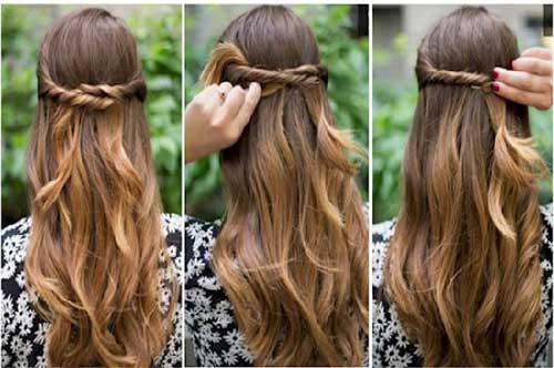 tutorial facil de penteado meio solto simples para formatura