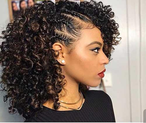 penteado simples em cachos grandes
