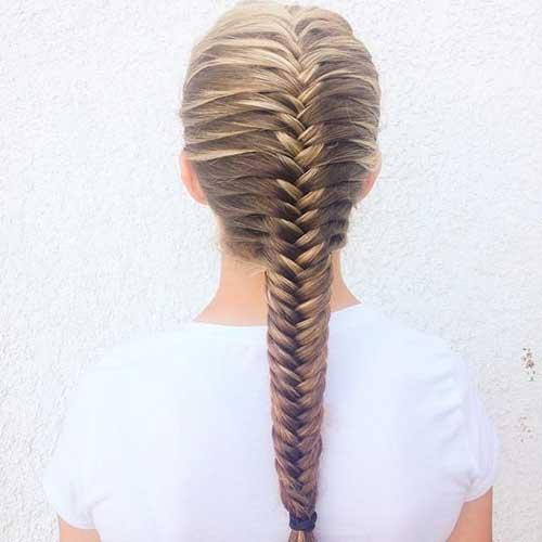 penteado tipo trança espinha de peixe