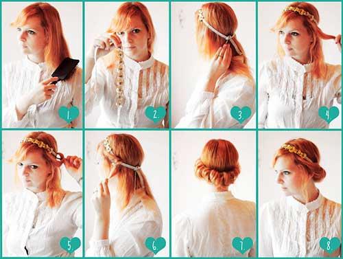 penteado simples e preso pra festa de formatura