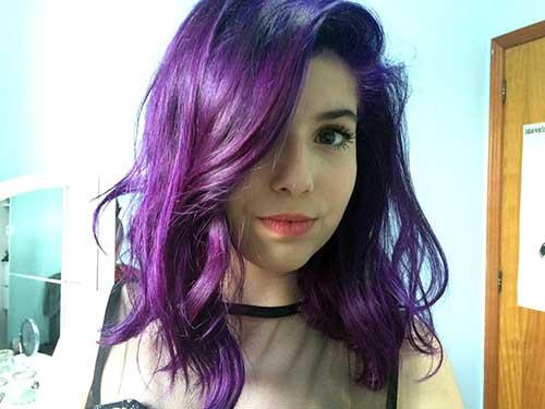 long bob violeta bonito