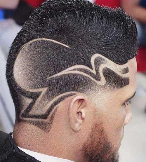 cabelo masculino com desenho