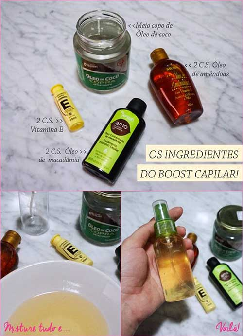 como fazer oleo natural pro cabelo crescer