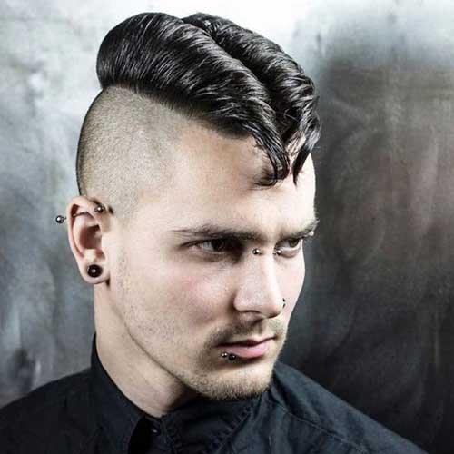 cabelo masculino zerado do lado
