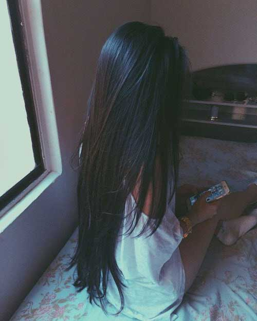 cabelos pretos compridos com oleos naturais para fazer cabelo crescer