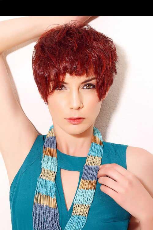 cabelos vermelhos texturizados