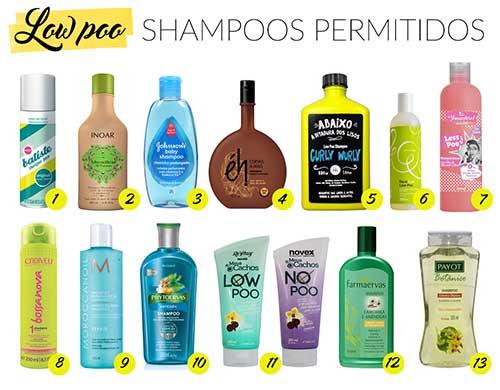 lista de shampoos pra tratamento low poo em casa