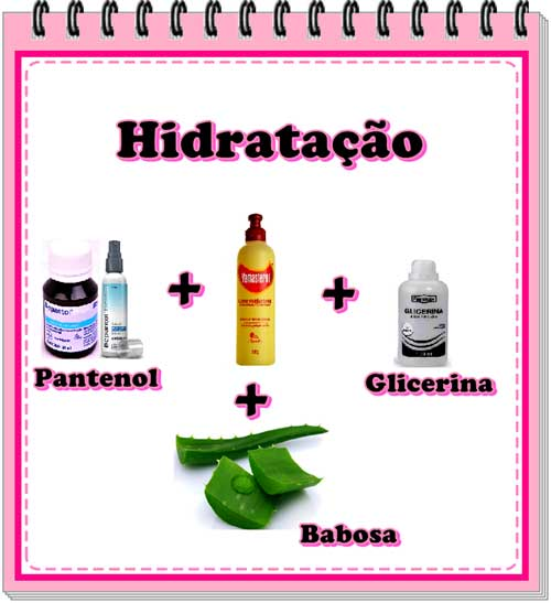 receita caseira de hidrataçao