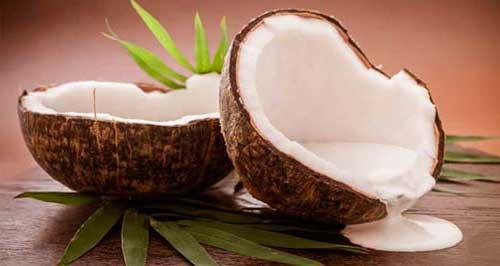 leite de coco para queda de cabelo