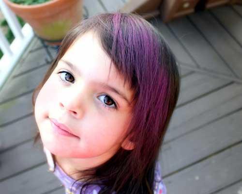 como pintar o cabelo infantil com tinta temporaria roxa