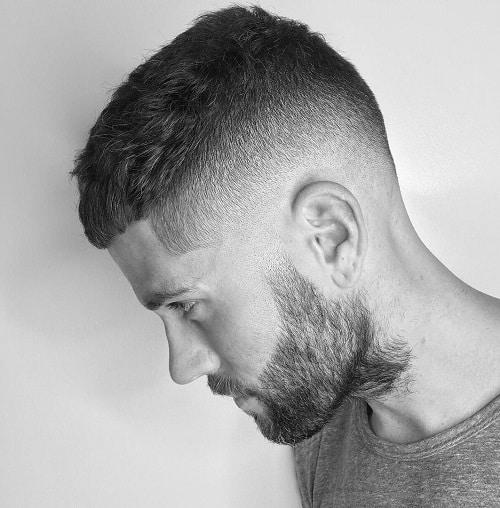 cabelo curto com barba da moda