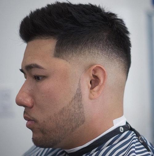cabelo curto de homem de barba