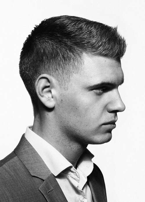 corte de cabelo masculino social com topete