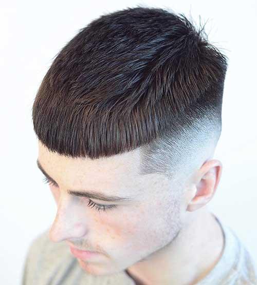 cabelo com franja retinha e curta