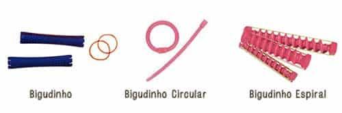 bigodim normal, circular e espiral