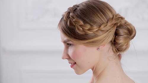 penteado romantico preso com trança