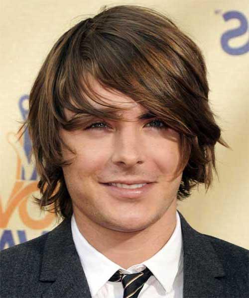 cabelo liso de homem pra rosto oval
