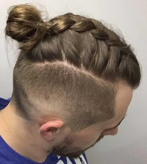 penteado tipo coque masculino com trança