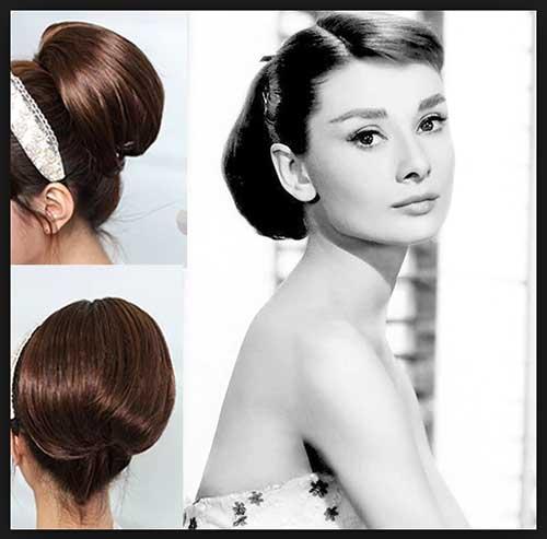 foto de penteado elegante e romantico de famosa