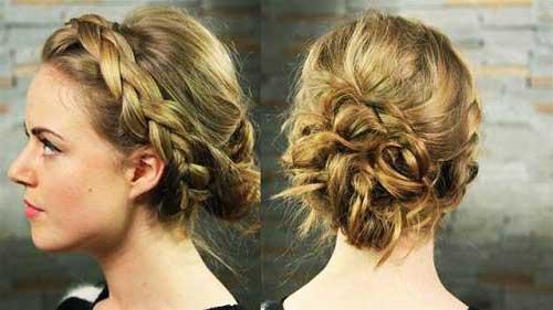 penteado tipo coque grego romantico