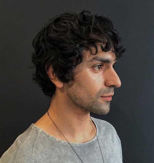 cabelo masculino basico com franja
