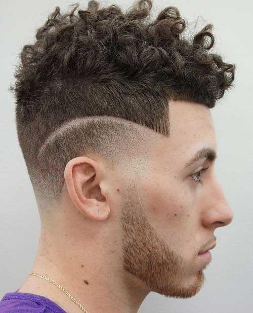 cabelo com degrade riscado