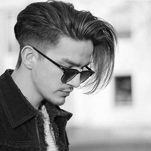 penteados legais para cabelo liso de homem