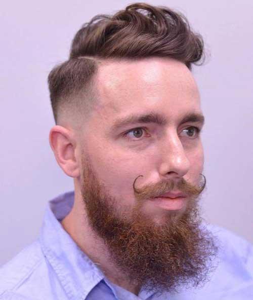 penteado masculino combinando com a barba