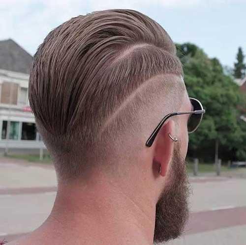 cabelo liso masculino visto de costas penteado pra tras