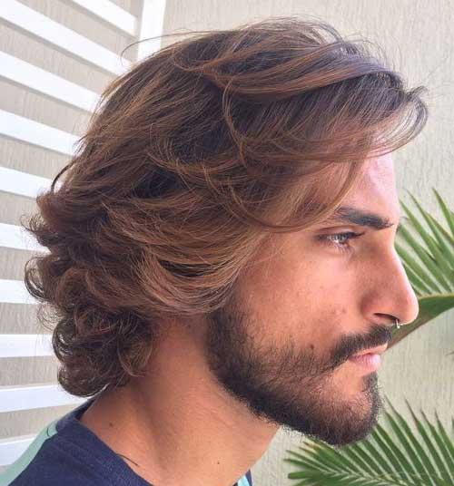 cabelo cacheado masculino medio