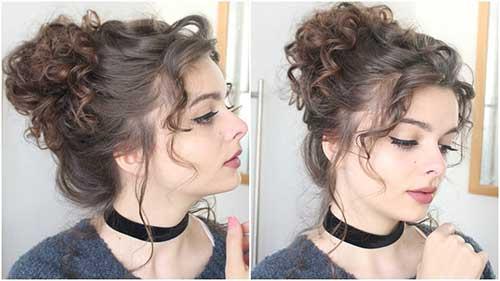 coque romantico para cabelos cacheados compridos