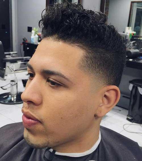 penteado para cabelo masculino cacheado