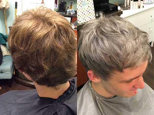 como fazer cabelo cinza masculino