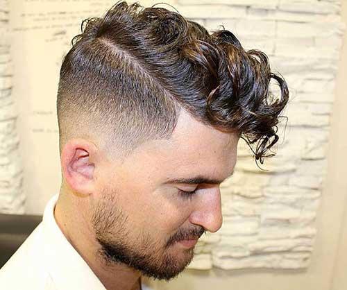 penteado ondulado social com topete