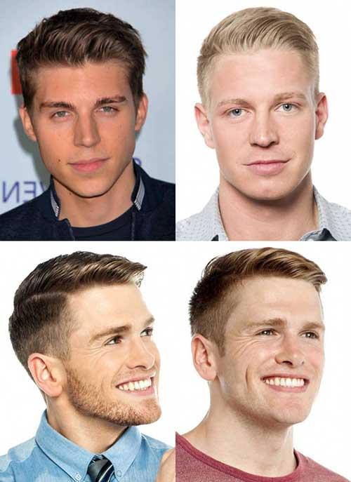 cabelo masculino social para rosto redondo