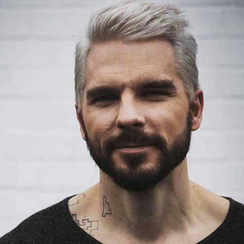 cor de cabelo masculino platinado e medio