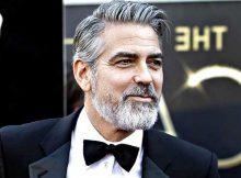 george clooney com cabelo cinza e grisalho