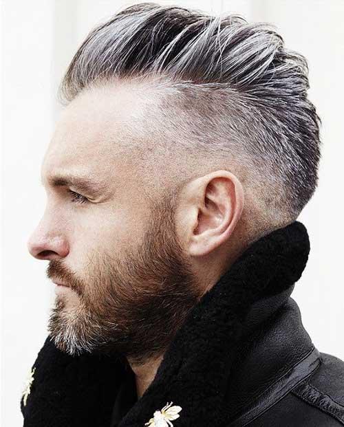 cabelo undercut masculino com luzes cinza