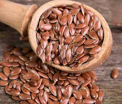 imagem de sementes de linhaça marrom
