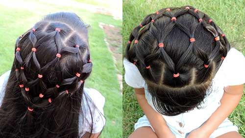 cabelo infantil em forma de rede