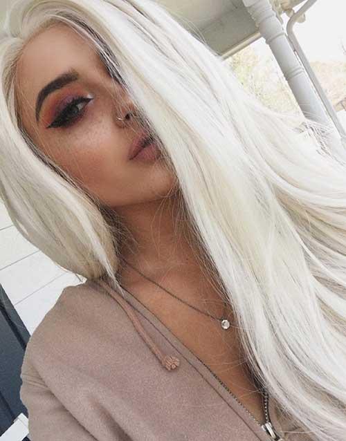 cor de cabelo platinado para pele clara